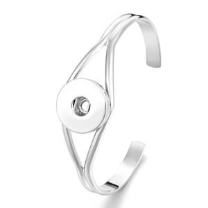 Noosa Snap Jewelry металлическая кнопка дизайнерские браслеты золото серебро манжеты браслет браслеты подходят 18 мм Snap кнопки продвижение ювелирных изделий