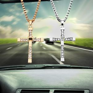 سيارة مرآة الرؤية الخلفية المعلقة-التصميم سيارة الحلي قلادة سيارة المسيحية الصليب الديكور السيارات الداخلية الاكسسوارات ذات جودة عالية