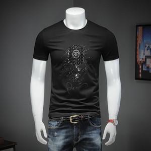 t shirt homme t-shirt forage chaud pour hommes t-shirt à manches courtes en coton mercerisé respirant col rond chemise à manches courtes