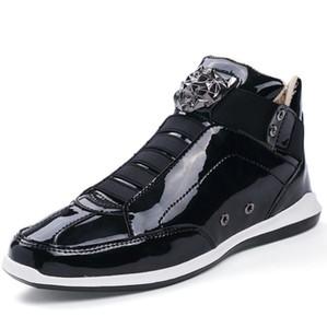 2019 Cheap Korean trendy fashion designer s shoes silver gold black shiny bright Mr. stylish red carpet preferred quality shoes