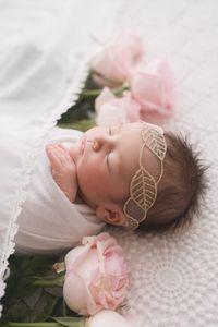 Europe Infant Baby Lace Headband Child Photo Prop Hair Band Kids Lace Leave Headbands Bandanas Hairbands 15074