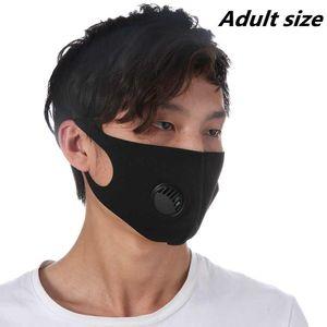 10 cores adulto máscara de respiração Válvula máscara máscaras lavável reutilizável anti-poeira Camouflage Máscaras Ice Silk algodão ZZA2428