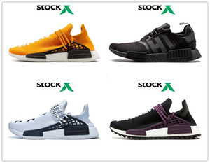 NMD Human Race Mens Running Shoes Unique Future Pharrell Williams Sample Yellow Core Black Sport Shoes Women Sneakers 36-47