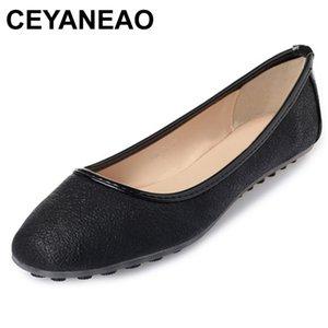 CEYANEAO 2019 chaussures à talon carré dames chaussures or argent ballet plat léger printemps chaussures de sport filles femme E2027