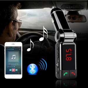 BC06 무선 블루투스 차량용 키트 핸즈프리 FM 송신기 스테레오 오디오 MP3 음악 플레이어 LCD 디스플레이와 듀얼 USB 포트 충전기