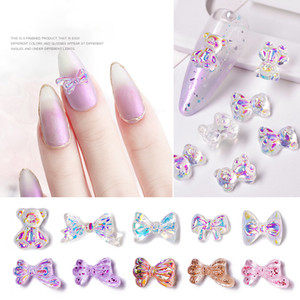 2020 new 3D nail art resin butterfly bow decoration vivid butterfly DIY nail art accessories nail art ornament Nails Supplier