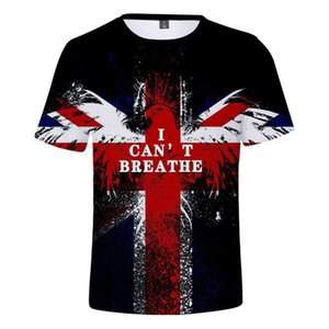 Moda Uomo Tops maglietta Aquila Forma I Cant Breathe allentato Big Fat Plus Size T-shirt Uomo manica corta O Neck sciolti Tshirt