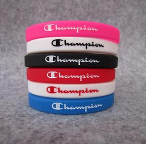 50PCS Silicone Champion Bracelet Coloré Unisexe Bracelet En Caoutchouc Silicone Bracelet Sport Activité Bande De Poignet De Mode Bijoux Promotion Cadeau