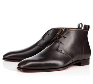 Fashion Luxury Red Bottom Milano Stivali Scarpe da sposa Scarpe da festa da uomo Uomo, cugino charles Milan Red Sole Leather Designer shoes shoes35-46