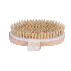 new Wooden Bath Brushes oval shower brush High quality Natural bristle Message brushes comfortable skin deep cleansing