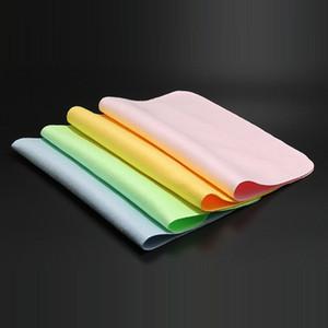 5pcs / lots der Qualitäts Chamois Gläser Reiniger 150 * 175mm Mikrofaser-Glas-Putztuch für Objektiv-Telefon-Bildschirm-Reinigungstücher
