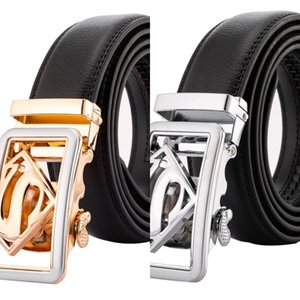 qGiM4 Men's Superman automatic buckle leather foreigner business personality fashion Men's Superman automatic buckle leather foreigner busin