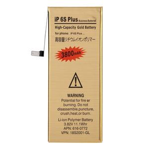 3800mAh de alta capacidad del oro Batería recargable de polímero de litio para iPhone 6s Plus