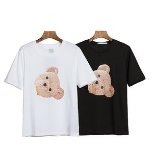 2020 summer new guillotine bear Palm cotton short-sleeved T-shirt Angels men and women couples outfit explosion models tide brand