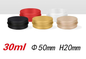 30ML Empty Refillable Aluminum Jars Black Gold Red Silver Metal Tin 30g 1oz Cosmetic Containers Crafts Packaging