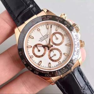 venta caliente serie 40mmTONA reloj de los hombres M116519 cara blanca simple del oro de acero inoxidable 316L 2813 para hombre de la máquina automática de buques de alta reloj