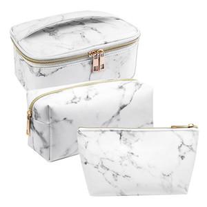 ASDS-3 Pack Marble Makeup Bag Set портативный туалетный мешок сумка водонепроницаемый организатор чехол для хранения кистей для макияжа для женщин Gir