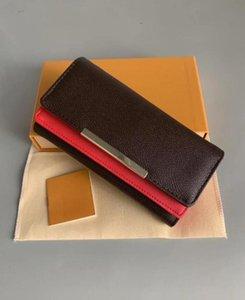 الحمراء حقائب اليد المحفظة المرأة فليب المحفظة زيبر حقيبة أنثى زهرة محفظة محفظة بطاقة حامل الأزياء جيب حقيبة المرأة الطويلة مع مربع