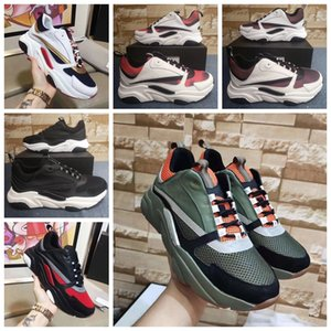 Zapatos de diseñador B22 Sneaker para hombre Zapatos casuales Mujer Plataforma Sneaker Low Top Lace-Up B22 Sneaker en cuero Punto Zapatos de pareja de lujo con caja