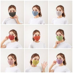 Sequin Mask Fashion Diamond Dust Proof Diamond Mask Washable Reusable Bar Party Design Face Mask T3I5883