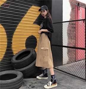 Autunno Gonna Bambini fredda del luppolo Port Style una linea di parola vita alta Lavorazione Mezza Lunghezza Skirt Girl Ins Super Fuoco