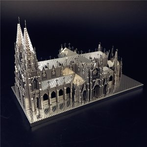 MMZ MODEL Nanyuan 3D Puzzle Metal Assembly Model St. Patrick's Cathedral Model Kits DIY 3D Laser Cut Jigsaw Toy Creative toys Y200414