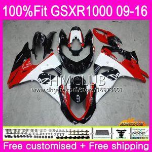 K9 Für SUZUKI GSX-R1000 GSXR 1000 09 10 11 12 13 15 16 13HM.12 GSX R1000 GSXR1000 2009 2010 2011 2012 2014 2015 2016 Graffitrot Verkleidung