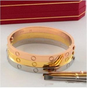 316L acero inoxidable moda amante pulsera de la marca joyería amor pulsera brazalete tamaño 16- 21cm hombres mujeres Carter destornillador pulsera