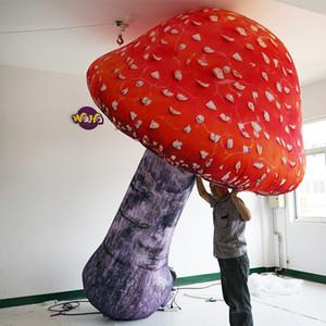 Decor Evento Parade 3m de alta qualidade colorido Mushroom inflável com Airblower Stage infláveis para publicidade de Natal