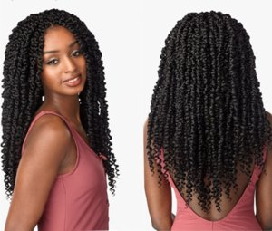Passion Spring Twists Synthetic Crotchet Hair Extensions Ombre Crochet Braids Pre looped Fluffy Bomb Twist Braiding