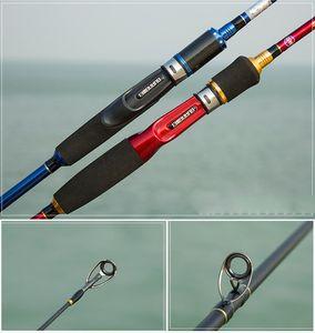1.8 m Straight Shank Gun Poignée Route Set Canne à pêche en carbone balance Double Pole Légèrement Dur Canne À Pêche Set Pass Canne À Pêche Bobine