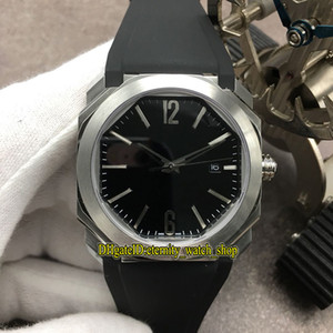 GB V3 versão OCTO Solotempo 101964 BGO41BSLD Black Dial Japão Miyota 9015 Automatic 101963 Mens Watch Sapphire aço capa Desporto Relógios