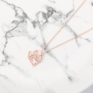 5 шт. Золото / серебро / розовое золото тропическая рыба оригами кулон ожерелье Characin золотая рыбка ювелирные изделия для подарка