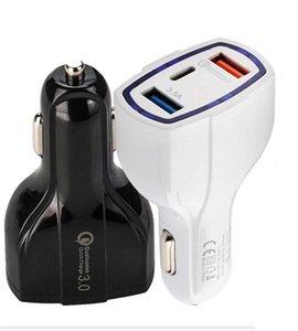 QC3 у.0 3 порта USB автомобильное зарядное устройство 35Вт 7А быстрая зарядка автомобильное зарядное устройство Тип C быстрая зарядка автомобильный адаптер зарядное устройство мобильного телефона для HTC и LG