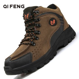 New Arrival Fashion Suede Leather Men's Snow Boots Winter Warm Plush Shoes Ankle Boots Outdoor Sports Hiking Footwear Size 39-47