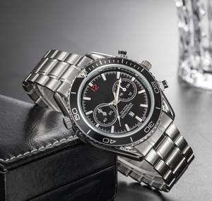 Новое прибытие бизнес мужские дизайнерские роскошные часы серебряный ремешок из нержавеющей стали спортивные часы яркий цвет циферблат наручные часы с датой часы