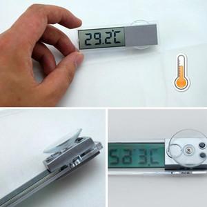 ميزان حرارة السيارة من نوع Osculum -20 to 110 Celsius Degree LCD مركبة على مدار الساعة ميزان الحرارة الرقمي مئوية