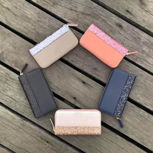 Diseñador-Mujeres lentejuelas del brillo de las carpetas de la venta caliente Marca Sparkles purs moneda de la carpeta de los mitones titular de la tarjeta de crédito