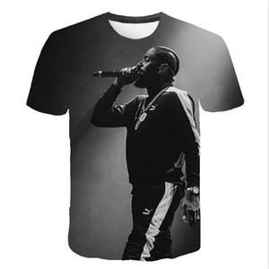 Nipsey koşuşturmasından Erkek Yaz Desinger Tshirts 3D Baskı Homme cloting Moda Stil Gündelik Giyim RIP Hip Hop