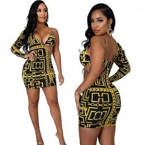 Clothes Plus Size Sexy Party Dress Women Summer Slim Diagonal Shoulder Dress Halter Backless Bodycon Dresses Floral Women