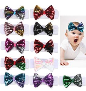 Le neonate accessori per capelli Jojo Siwa Archi 5 pollici 11 Colori Paillettes JOJO archi dei capelli con la fascia elastica DHL SS278