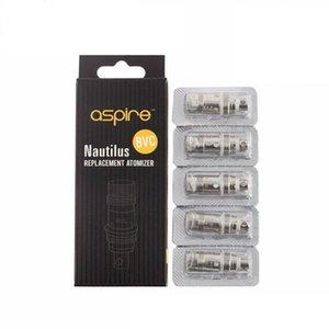 Hot global 100% new Aspire Nautilus Coil BVC Aspire Coils Nautilus Coil Heads Atomizer Core For Aspire Nautilus Mini Nuaitlus Ecig Vapor