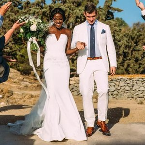 Weiß Neue Design Männer Nüsse Blazer Jacke Männer Slim Fit Für Hochzeitsanzug Bräutigam Anzug Groomsmen Anzüge Prom Anzug Revers Zwei Stücke