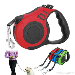 3 М/5 м выдвижной собака поводок автоматическая собака щенок поводок веревка животное работает ходьба расширение свинца для малых средних собак товары для животных