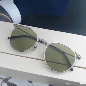 Men Women Sunglasses Fashion Oval Sunglasses UV Protection Lens Coating Mirror Lens Frameless Color Plated Frame Come With Box