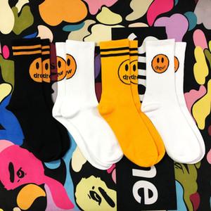 ile Erkek Moda Çorap Drew Evi Casual Pamuk Nefes 4 Renkler Kaykay Hip Hop Spor Çorap Erkek