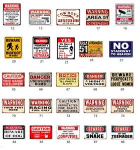 خطر تحذير معدن القصدير علامات الناس لا غبي لافتات ديكور المنزل جدار الفن اللوحة اللوحة خمر الغاز بطل النفط فن الديكور المعدنية