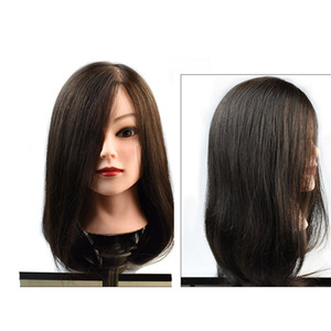 Coolhair4u Mannequin Head Salon 100% Echthaar Natur Schwarzes Haar Training Friseur Praxis Kosmetologie Schaufensterpuppen Haar