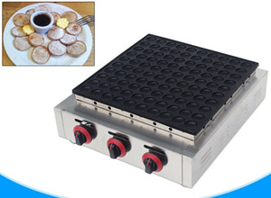 Máquina de gas dorayaki poffertjes de gas parrilla macarrón máquina comercial 100 agujeros crepe pastel fabricante de gofres