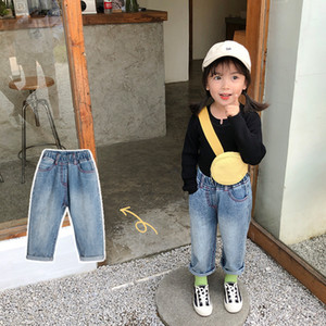 15434 Spring Autumn Baby Girls Jeans Kids Denim Pants Casual Trousers Children Girl Jeans
